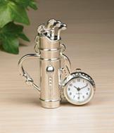 Miniature Golf Bag Clock