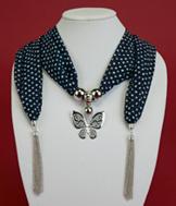 Polka-Dot Jewelry Scarf