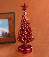 Lighted Glass Christmas Tree