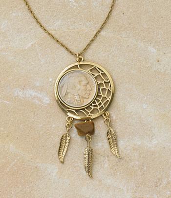 Indian head dreamcatcher pendant necklaces jewelry watches indian head dreamcatcher pendant aloadofball Images