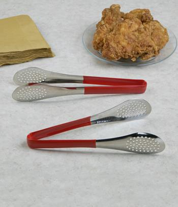 Perforated Fry Tongs - Set of 2