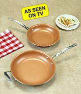 12 Red Copper Fry Pan