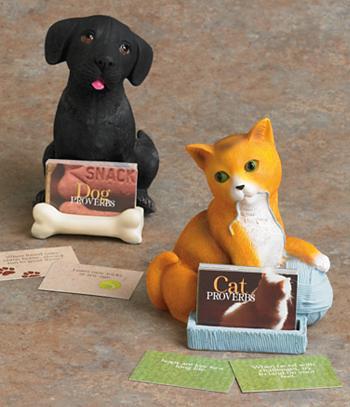 Cat/Dog Proverbs Figurine - Each