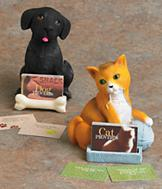Cat/Dog Proverbs Figurine - Each
