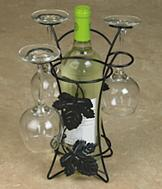 Wine Bottle and Wine Glass Holder