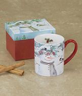Chickadee Snowman Mug
