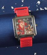 Santa Watch with Red Silicone Band