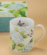 Blue Hydrangea Mug with Gift Box