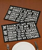 Bacon to my Eggs Placemats - Set of 2