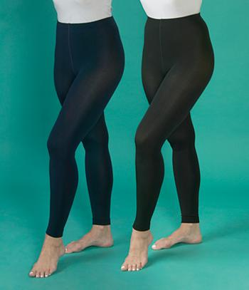 Plush-Lined Footless Tights - Each Pair