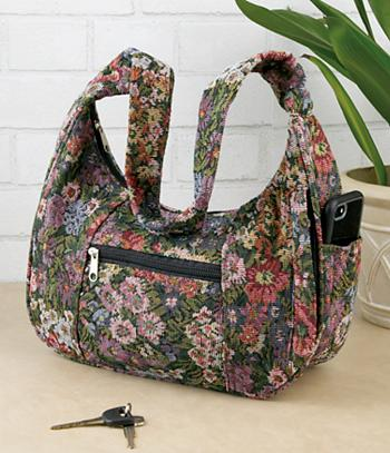 Floral Tapestry Shoulder Bag