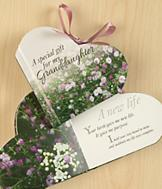 Heart-Shaped Granddaughter Gift Book