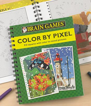 Brain Games Color By Pixel Coloring Book Games Crafts Children