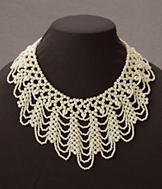 Pearl-Look Collar Necklace