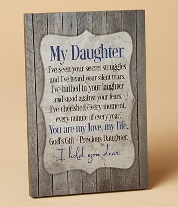 Daughter Plaque
