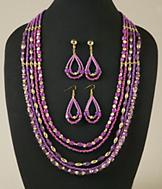 Beaded Violet Necklace