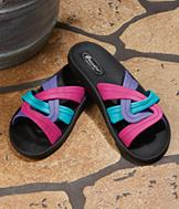 Twist-Top Slide Sandals