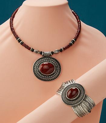 Jasper-Look Necklace