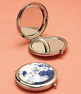 Blue and White Porcelain Compact