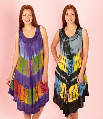 Tie Dye Umbrella Dress - Each