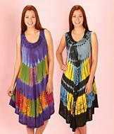 Tie Dye Umbrella Dress - Each
