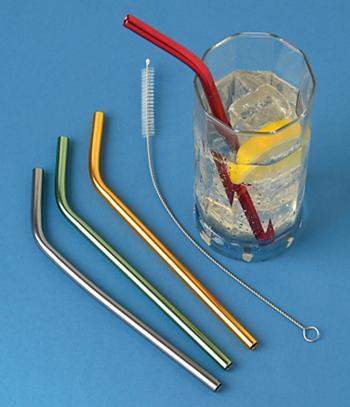 Aluminum Straws - Set of 4