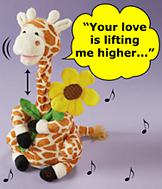 Giraffe Musical Plush