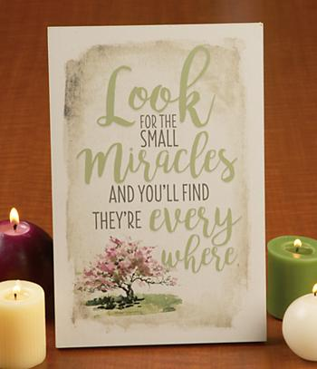 Small Miracles Plaque