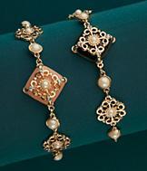 Vintage-Style Flower Bracelet - Each