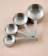 Stainless Steel Measuring Cups - Set of 4