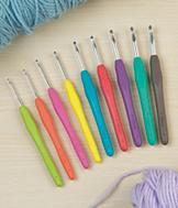 Color-Coded Crochet Hooks - 9-Pc. Set