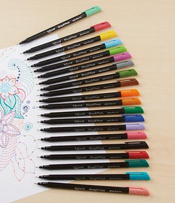 Felt-Tip Colored Pens - Set of 20