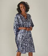 Knee-Length Indigo Caftan