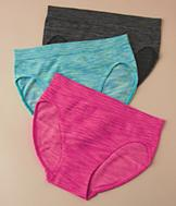 Space-Dye Hi-Cut Panties - Set of 3