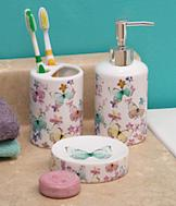 Butterfly Bathroom Accessories - 3-Pc. Set