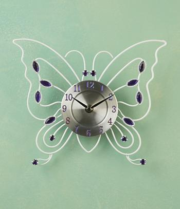 Bejeweled Butterfly Clock