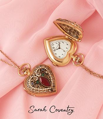 Sarah Coventry Heart Pendant Watch
