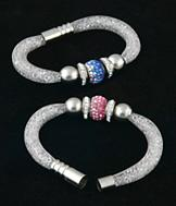 Crystal-Filled Mesh Bracelet - Each