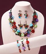 7-Strand Multicolor Bead Necklace