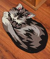 Cat-Shaped Rug