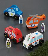 Melissa & Doug Emergency Vehicles - 8-Pc. Set
