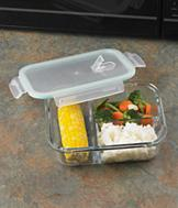 Divided Glass Food Container