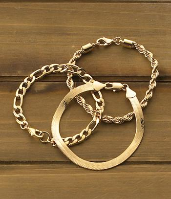 Goldtone Figaro Bracelet