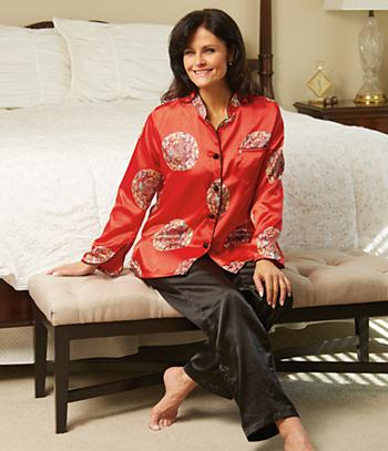 Chinese-Inspired Blouse and Pants/Small