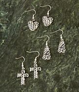Embossed Earring Collection - 3 Pairs