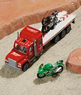 Toy Transport Truck with Motorcycles