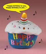 Happy Birthday Musical Cupcake