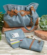 Chambray Blue Handbag