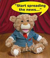 Tony Broadway Singing Bear