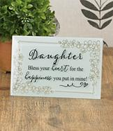 Daughter Gift Plaque